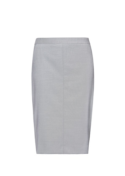 MANGO - Falda recta de traje