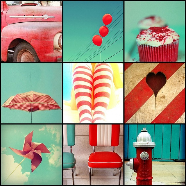 """""""welcome to the party"""": Color Inspiration, Red And Teal, Color Combos, Color Red, Decor Inspiration, Coastal Decor, Art Red, Kitchens Color, Rooms Color"""