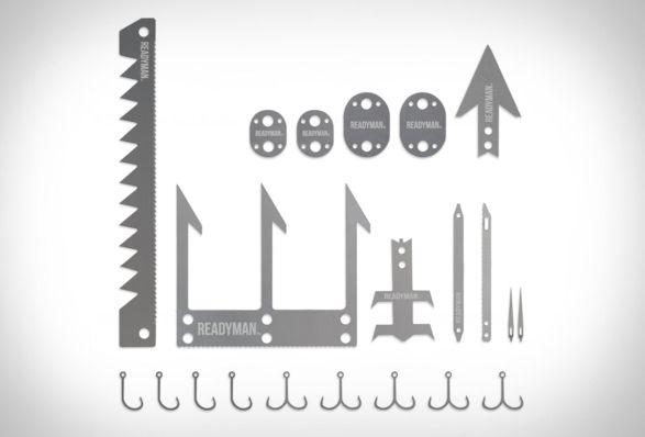 OCartão de Sobrevivência na Selvada READYMAN é um kit de ferramentas ideal para qualquer pessoa que necessite sobreviver em ambiente selvagem e…