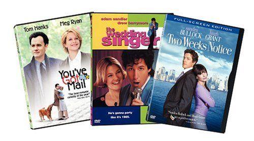 Drew Barrymore, Sandra Bullock, Tom Hanks, Meg Ryan, Hugh Grant, and Adam Sandler in The Wedding Singer (1998)