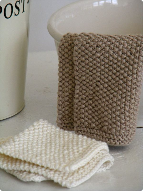 Knitted Moss Stitch Dishcloth Pattern : 17 Best images about Dishcloths, Facecloths & Scrubbies on Pinterest Mo...