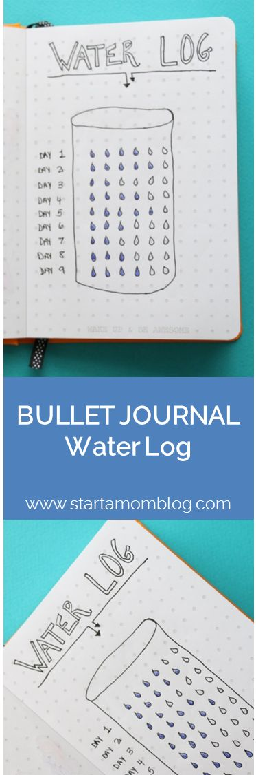 Bullet Journal Ideas Water Log Tracker