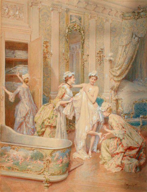 17 best images about 18th century baroque rococo art for Salle de bain louis xv versailles