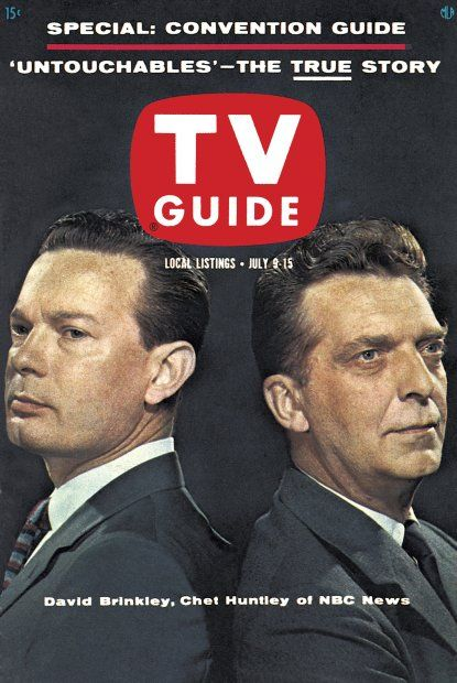 TV Guide: July 9, 1960 - David Brinkley and Chet Huntley of NBC News