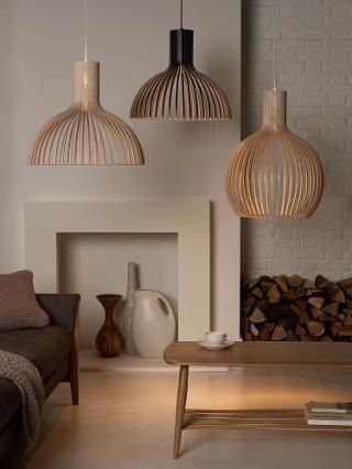 Buy Secto Victo Ceiling Light, Birch | John Lewis