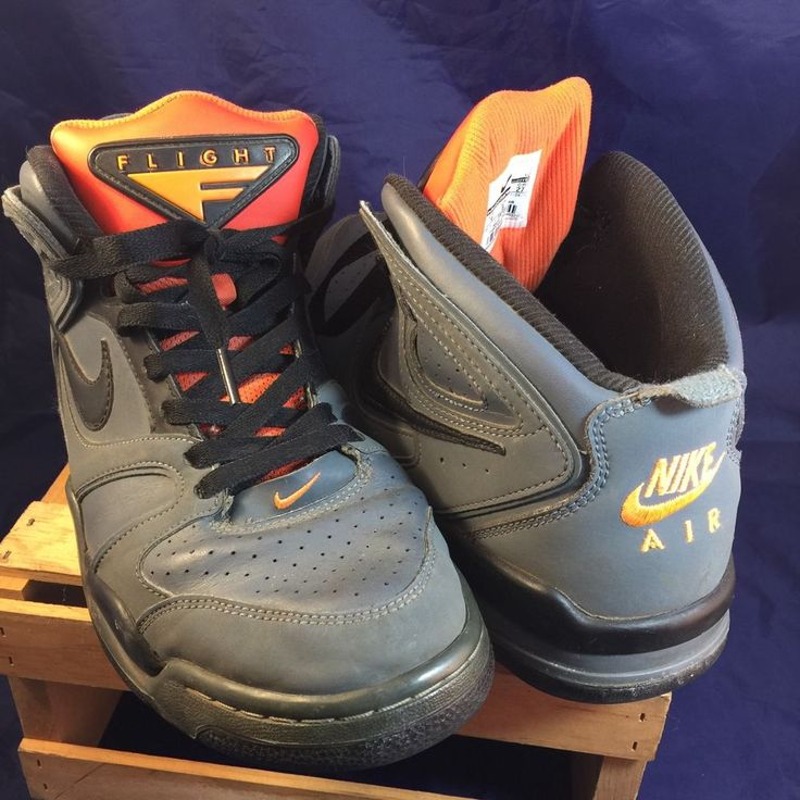 NIKE AIR FLIGHT CONDOR HIGH Basketball Team Orange/Grey Size 9 Men's Shoe  | eBay