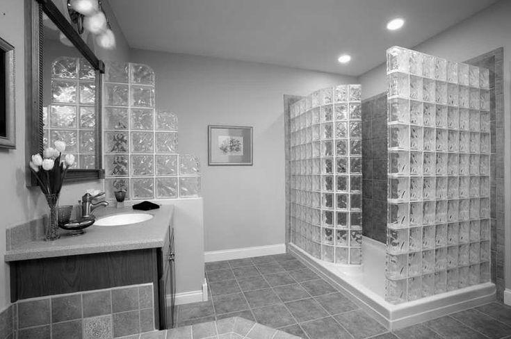 Gray Ceramic Tile Bathroom