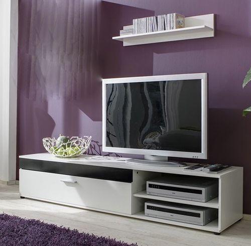 m bel tv m bel wei hochglanz h ngend tv m bel wei. Black Bedroom Furniture Sets. Home Design Ideas