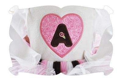 There's nothing sweeter than a heart shaped box full of chocolates!  This applique font features a lacy scalloped edge.