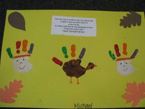 preschoool thanksgiving crafts handprint turkeys pre-k kindergarten