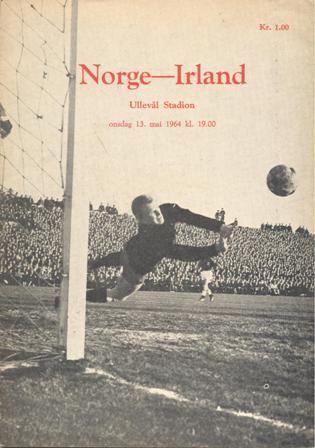 Away game: Norway v Ireland, 13th May 1964