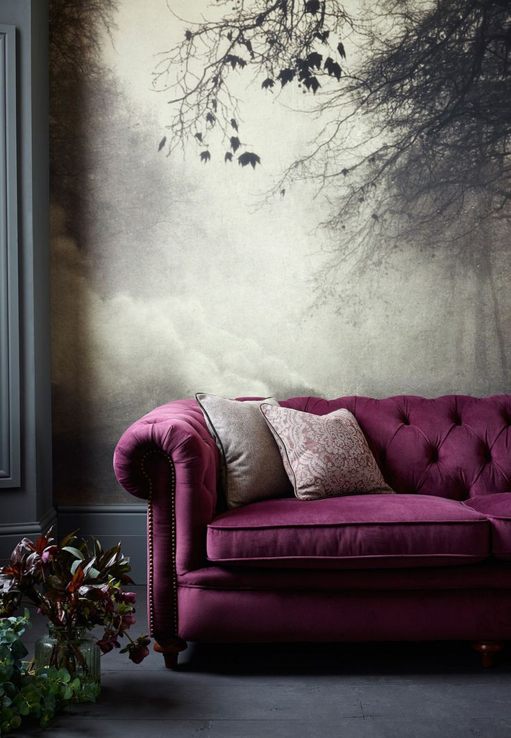 Velvet Chesterfield Sofa #interiors #furniture