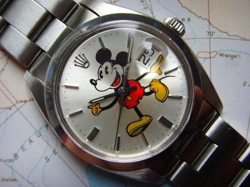 Vintage 1970s Rolex Oyster Date Mickey Mouse Dial