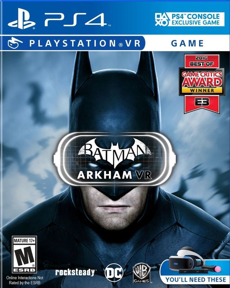 Batman Arkham VR (PlayStation 4) ps4 brand new / sealed game Virtual Reality