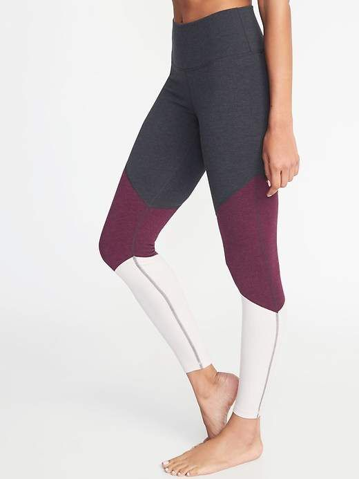 ac95aae58d High-Rise Color-Blocked 7 8-Length Leggings for Women  affiliate  yoga   fitness  spandex  comfy  gym  style