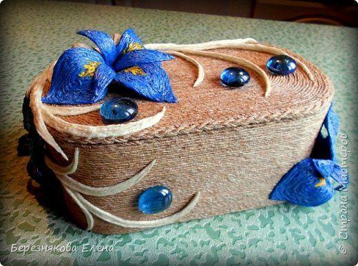 Приветствую всех-всех-всех)))Очередная шкатулочка с цветочками))))И,да-да-да,из шпагата))) фото 5