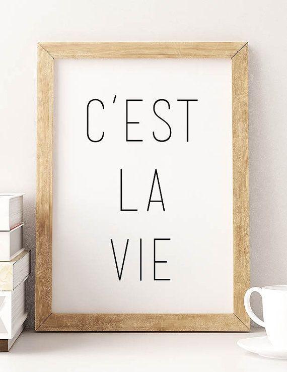 PRINTABLE Art Cest La Vie Typography Design Print Poster