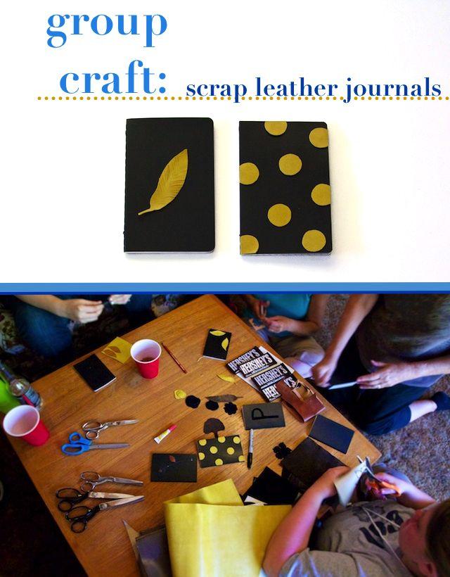 Ruffles And Stuff Group Craft Idea Scrap Leather Journals Art