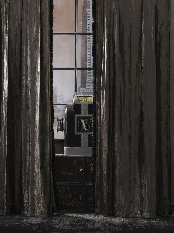 #andrewmartin #interiordesign #decor #drappery #dark #vintage #rustic #grey