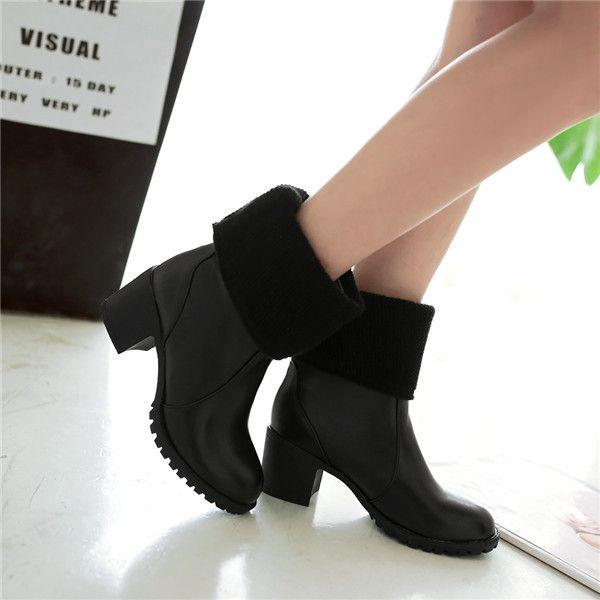 2015 nova moda inverno de couro macio sólida meados de bezerro mulheres botas de salto alto botas confortável e breathess mulheres bota E3635