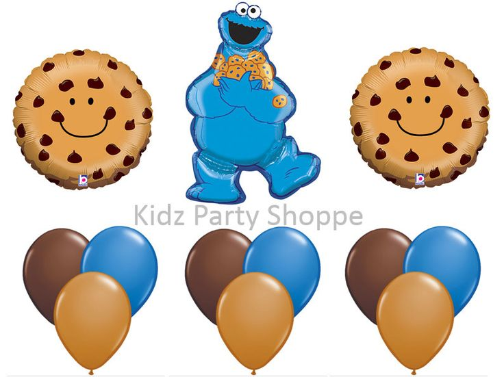 COOKIE MONSTER BALLOON Set Sesame Street Birthday Party Supplies Decorations centerpiece by KidzPartyShoppe on Etsy https://www.etsy.com/listing/277145884/cookie-monster-balloon-set-sesame-street