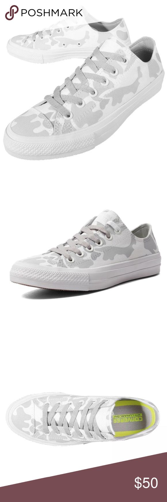 Converse Mens size 10 white shoes camo new Brand new without box Converse Shoes Sneakers