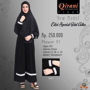 Baju Gamis Wanita Qirani Fresh Mawar 51