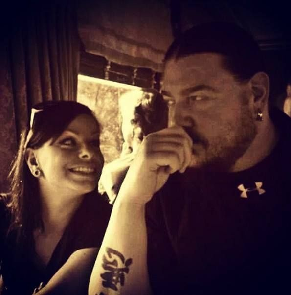 Mick Thomson & his Wife Stacy  Riley #Slipknot