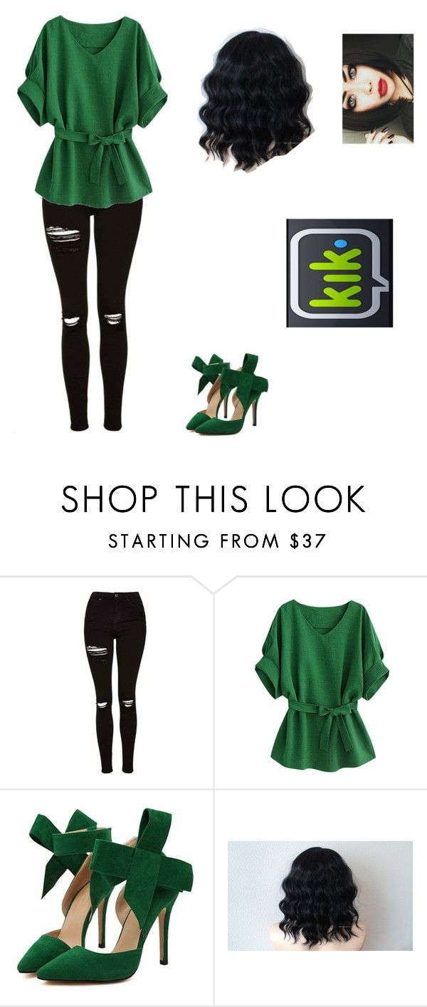 """Kik Messenger"" by sass-queen-159 ❤ liked on Polyvore featuring Topshop"