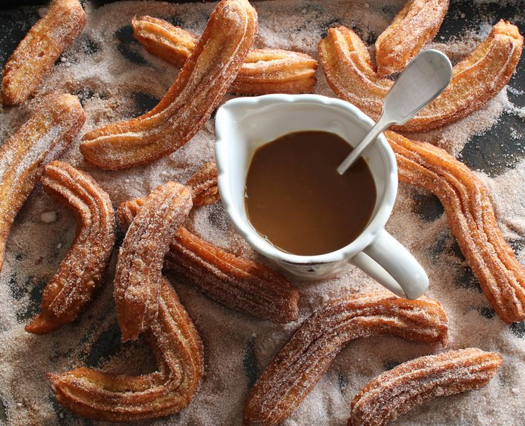 The Kiwi Cook | Gluten-free Churros with Rum and Coconut Caramel Sauce | http://thekiwicook.com