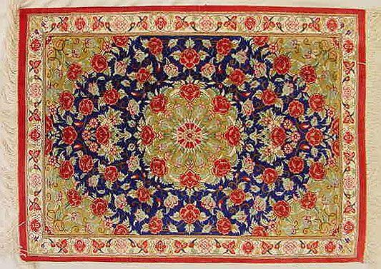 beautiful Qom Silk Rugs