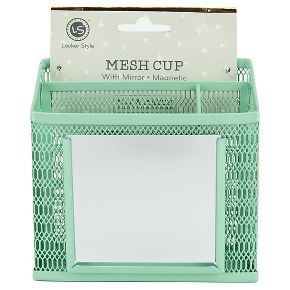 Locker Style™ Mesh Utility Cup with Mirror - Mint