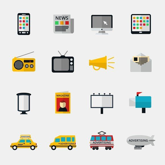 nice Advertisement and marketing icons  #business #CONTENT #design #DEVICE #email #icon #internet #line #magazine #marketing #media #newspaper #RADIO #screen #set #smartphone #symbol #TELEVISION #vector #web
