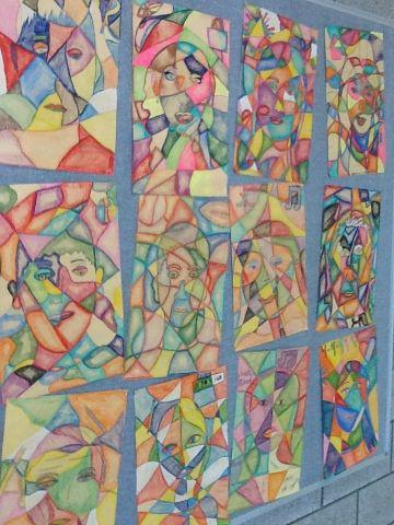 Art at Becker Middle School: 7th grade  Frank Big Bear portraits