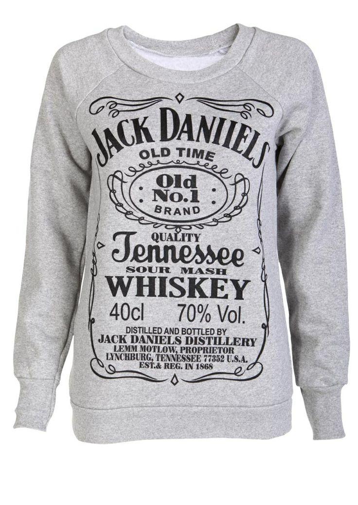 Grey Jack Daniels hoody