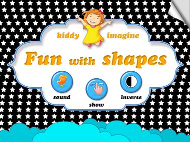 Kiddy Imagine: Fun with shapes. High contrast, black & white, visual stimulation app for kids. Super relaxing fun for your baby