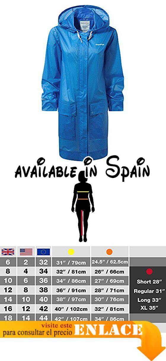 B071YV2H3P : Craghoppers - Chaqueta impermeable modelo Tulla para mujer (48  EU/Campanilla)