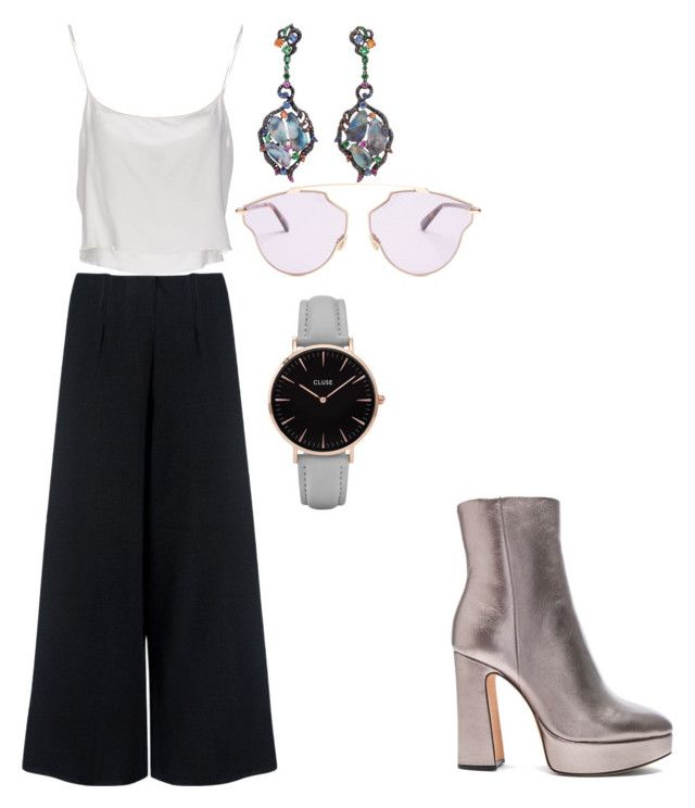 """""""Untitled #77"""" by varga-debora-beatriz on Polyvore featuring Alexandre Birman, C/MEO COLLECTIVE, Jean-Paul Gaultier, Wendy Yue, Christian Dior and CLUSE"""