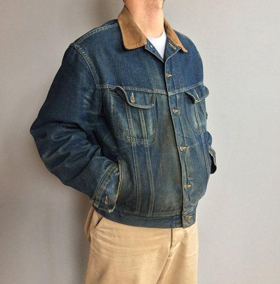 Giacca di jeans Lee Storm Rider con collo in velluto a coste