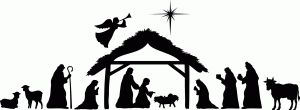 Silhouette Design Store: Large nativity scene by Kolette Hall