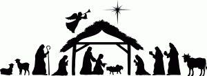 Silhouette Design Store: Large nativity scene by Kolette Hall