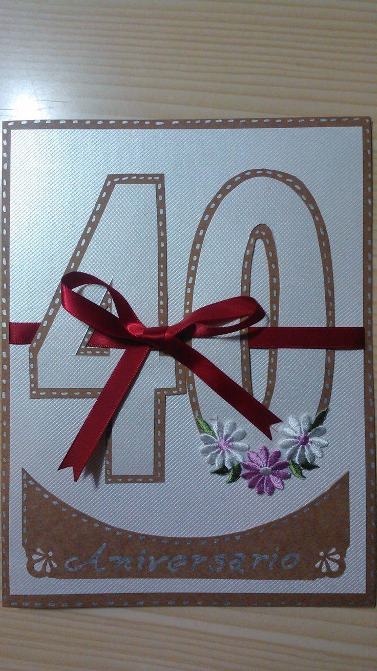 Tarjeta 40 años de aniversario