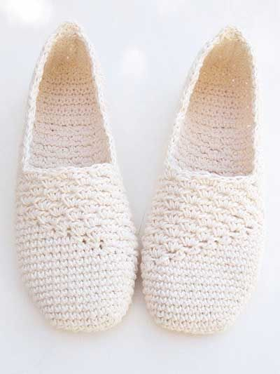 Bonitas zapatillas de ganchillo