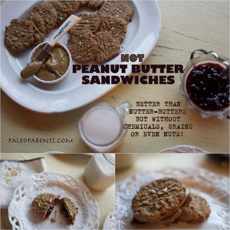 Not Peanut Butter Sandwich Cookies by PaleoParents Using ground Sunflower seeds instead of ground Almonds Nut free