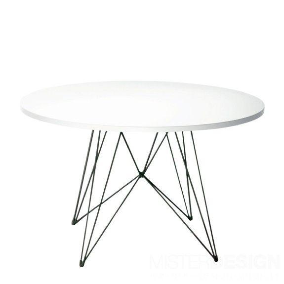 Tavolo Xz3 Round White Black