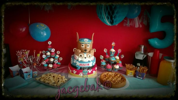 Sweet table with Paw Patrol