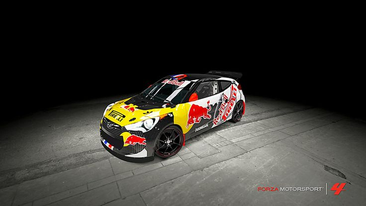 Hyundai Veloster # 37 of Clem5691 in the window of Forza Motorsport 4