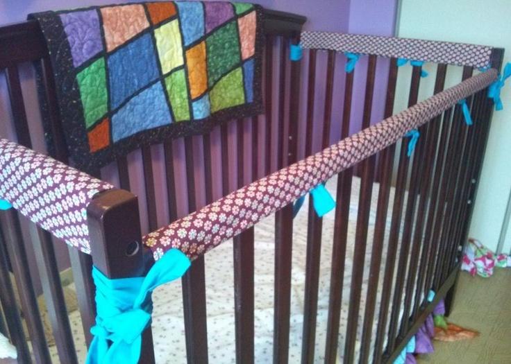 Custom Made Crib Rail Guard Set. $45.00, via Etsy.
