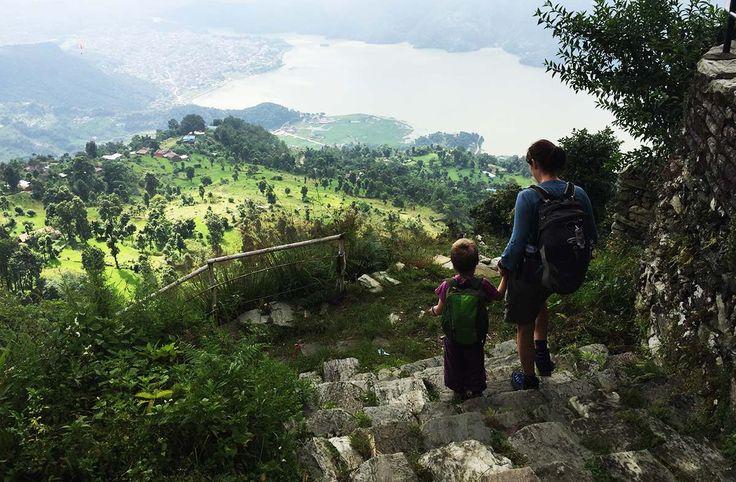 Walking from Sarangkot to Pokhara