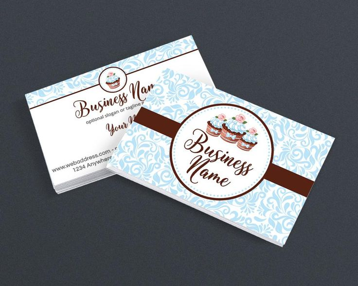 Bakery Business Card Design Pastry Chef 2 Sided